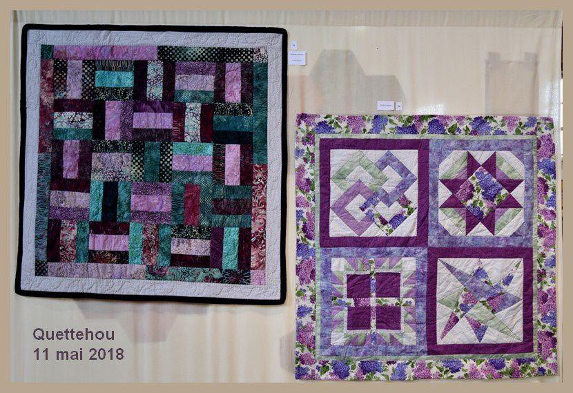 Quettehou : exposition de patchwork