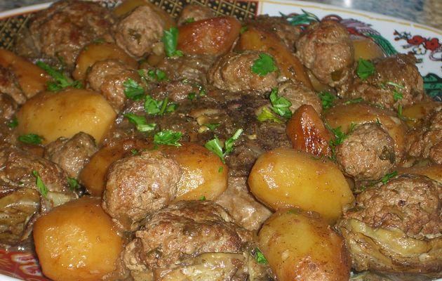 coeurs d'artichauds farcis en sauce