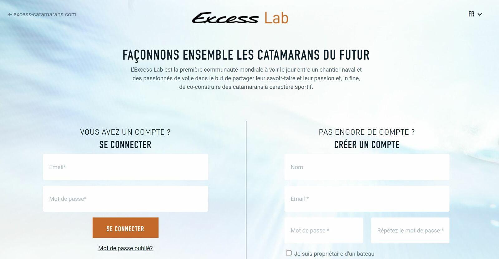Excess Catamarans - l'Excess Lab est ouvert, pour discuter des futurs catamarans de la marque
