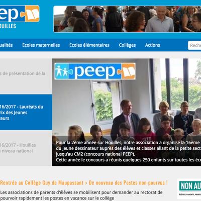 La PEEP de Houilles change de site internet