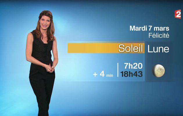📸2 📺1 CHLOE NABEDIAN @ChloeNabedian @Soniadsm pour LA METEO ce soir @France2tv #vuesalatele