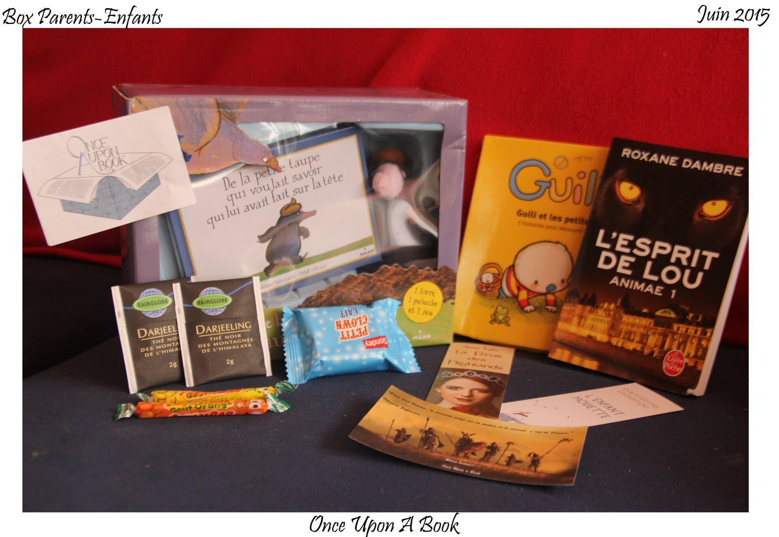 Box n°2 : Once Upon A Book, Box Parents-enfants juin 2015