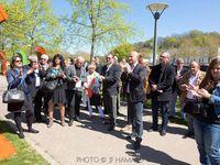 Inauguration des panneaux de la véloroute