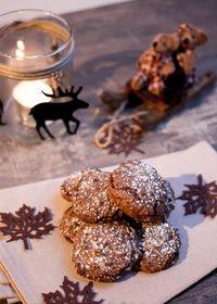 Croquants au rhum, chocolat et noisettes sans gluten#Cadeaux gourmands