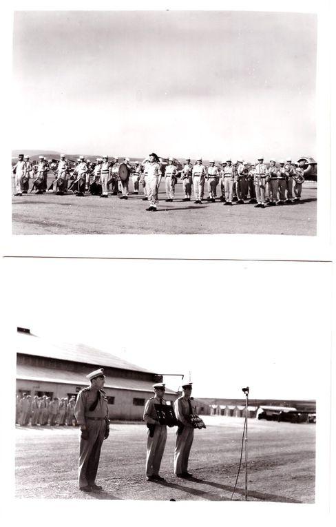 Photographies de Prise d'Armes à la Base aérienne de Oued-Hamimime  le 7 juin 1957