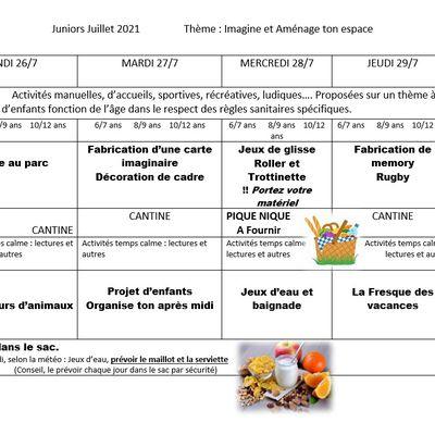 Programme des vacances avec les Francas Gaillac