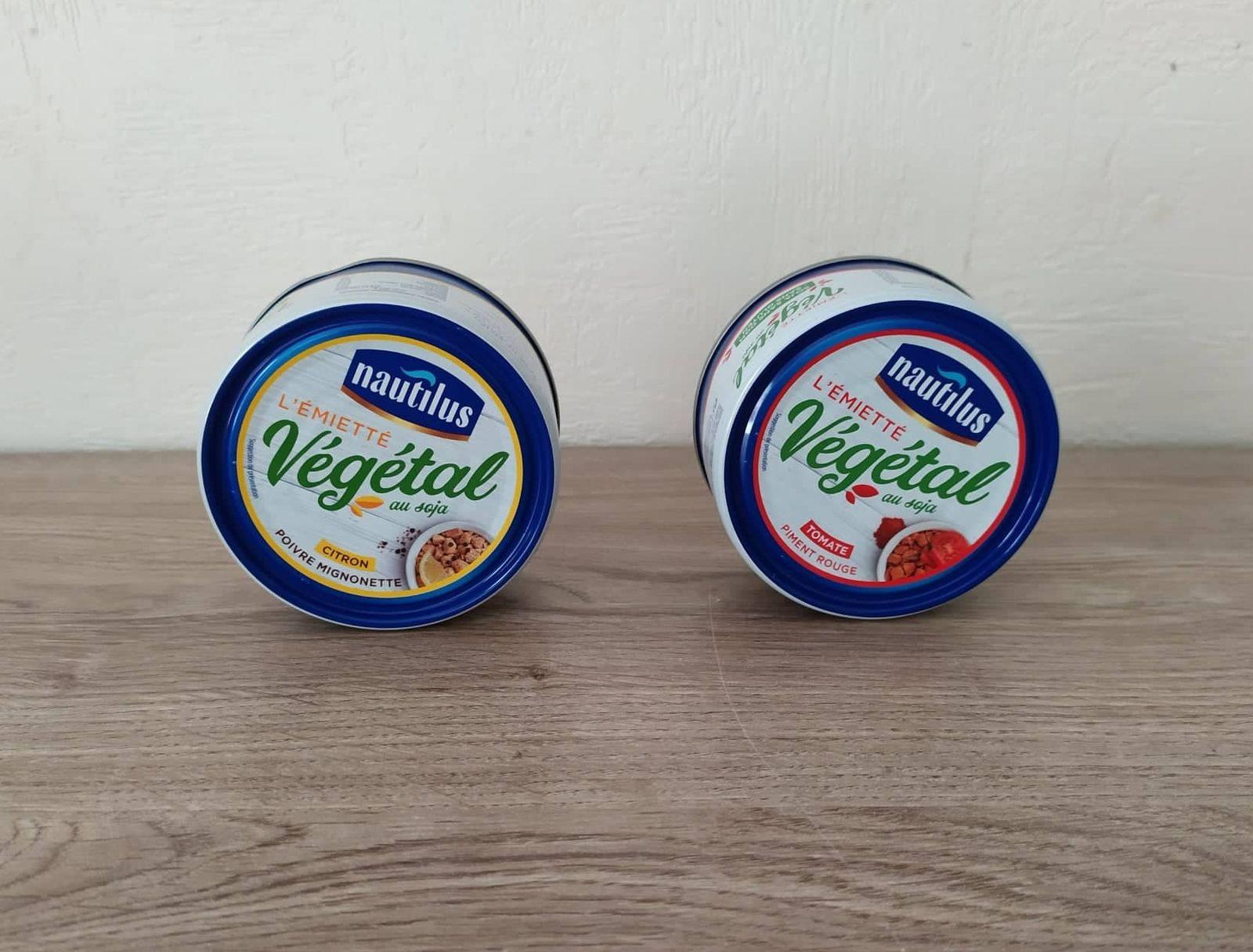 L'émietté végétalau Citron ou Tomate & Piment NAUTILUS