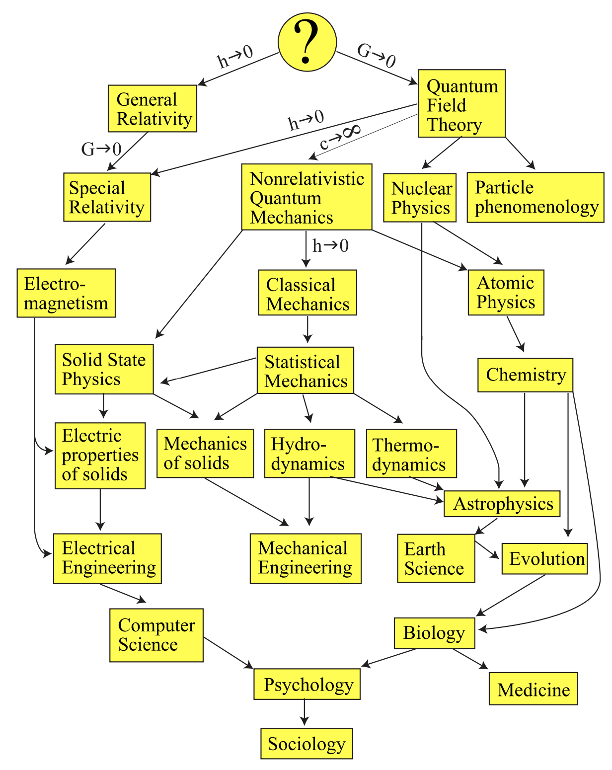 Family tree of theories (Tegmark, 2007)