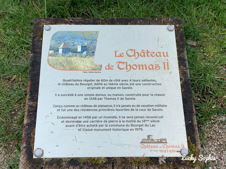 Château de Thomas II et observatoire des aigrettes, Le Bourget du Lac