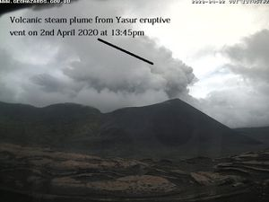 Yasur - activity, respectively from April 2 at 8:30 am and 1:45 pm, and from April 3 at 9:15 am - Doc. VGO - one click to enlarge