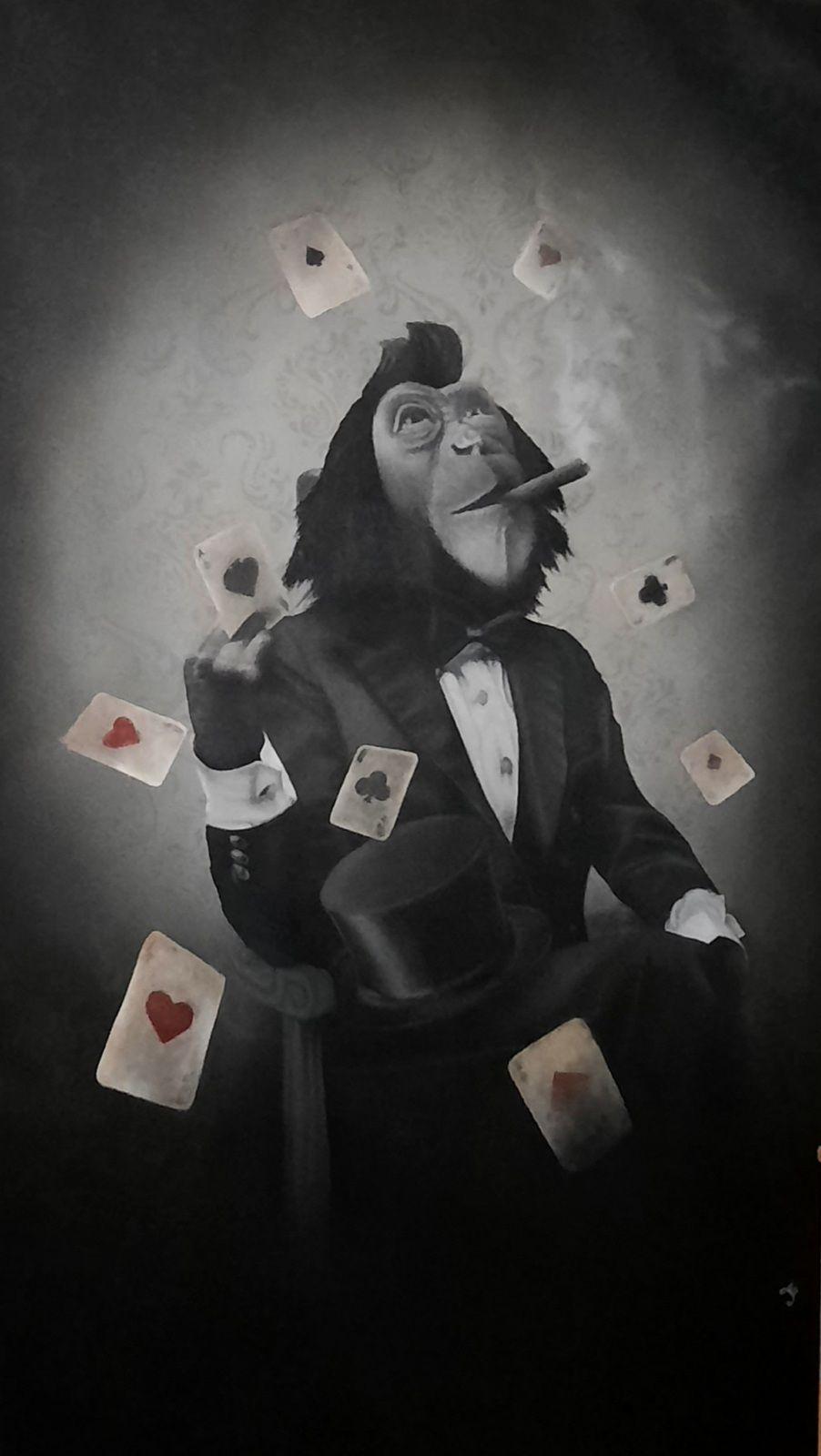 Créartaly, Sylvain binet, singe, poker
