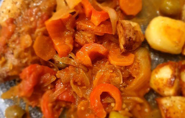 Poulet aux olives et pommes de terre (Cuisine de Nat)