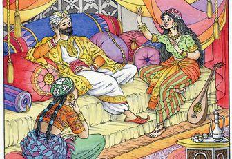 Historia del mandadero y las tres doncellas