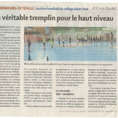 Article reprise de la section handball