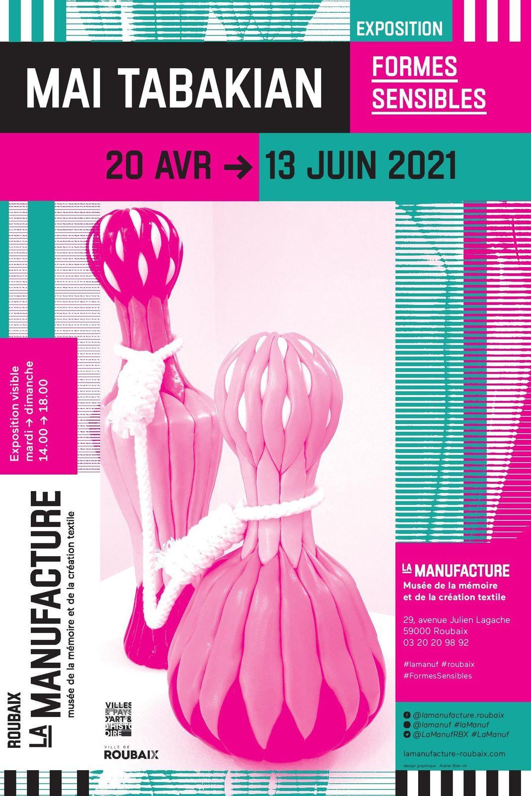 Formes sensibles - Exposition personnelle - Manufacture de Roubaix du 8 avril au 19 juin 2022