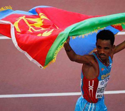 Ghirmay Ghebreslassie devient le plus jeune champion du monde de marathon