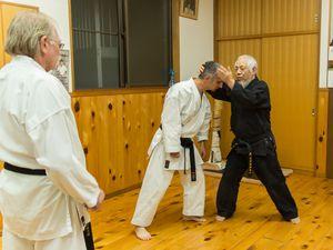 L'école Seidojyuku au dojo Shiseijuku