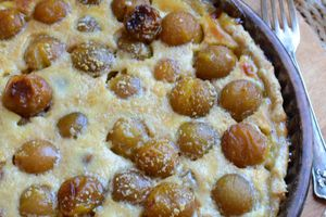 Tarte aux mirabelles - pâte à tarte à l'huile et chapelure