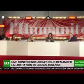 """VIDEO """" """"Libérez Julian Assange"""" : conférence de soutien au journaliste à la fête de l'Humanité - Ça n'empêche pas Nicolas"""
