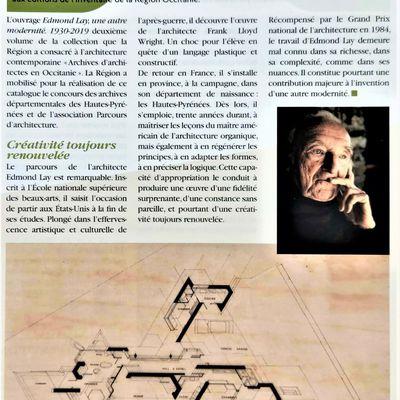 Présentation de la monographie Edmond Lay / Toulouse