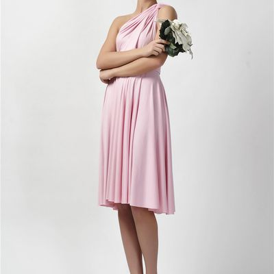 The bridesmaid dresses should not be too prominent or bright.