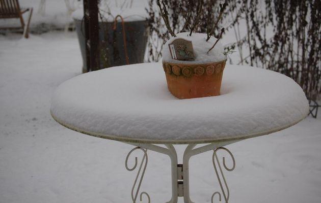 La neige est revenue ce matin ....