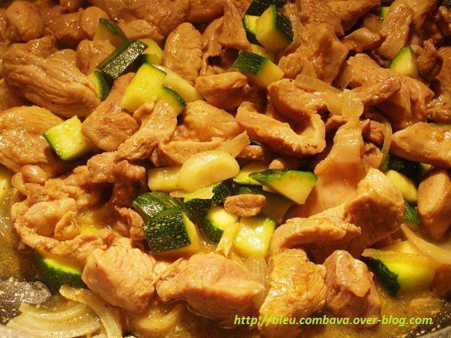 Émincé de volaille au curry express