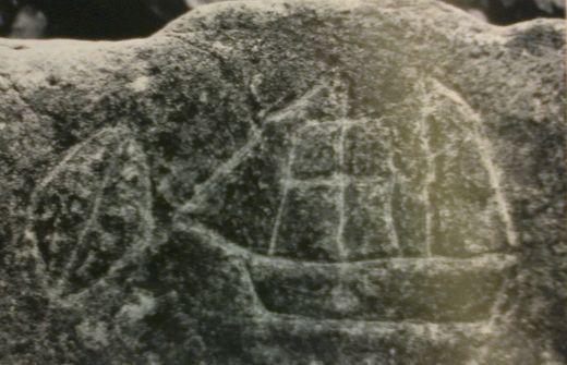 petroglyph boat