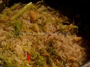 Boulettes de Viande au Curry Rouge Riz Thaï aux Poireaux