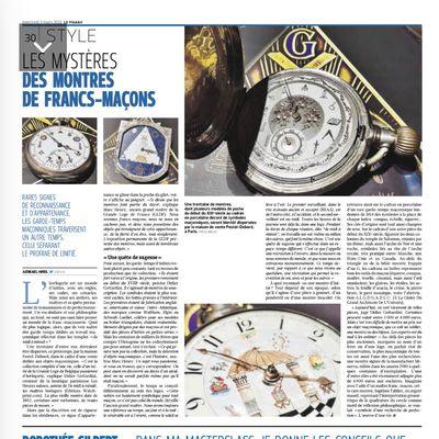 Les montres Maçonniques dans le Figaro.