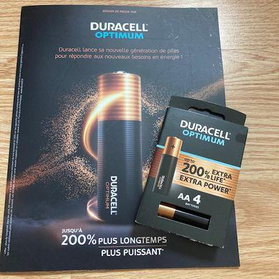Duracell Optimum 200% plus longtemps *