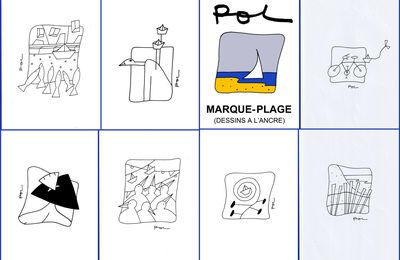 """EXPOSITION """"Marque-Plage"""", dessins à l'ancre signés Pol - Cafés Jeanne d'Arc et Le Club Café à Orléans - Jusqu'au 30 septembre"""