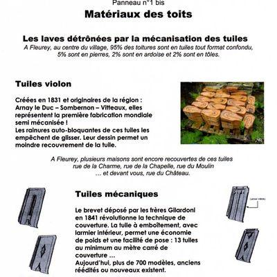 Patrimoine en hauteur : matériaux des toits - tuiles violon et tuiles mécaniques.
