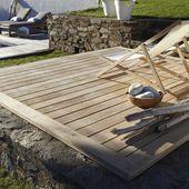 Une terrasse en bois et composite