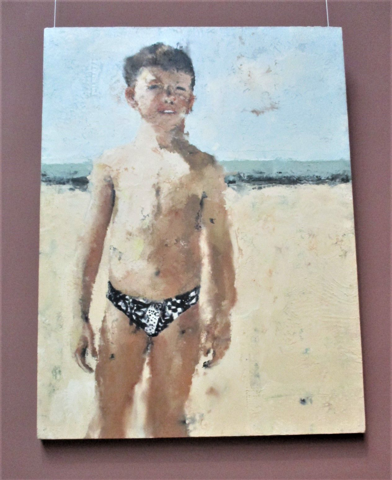 Portrait de Guillaume - Philippe Cognée, 1995