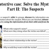 Séquence Detective/Mystery : crime scene activity