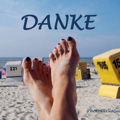 Ich danke meinen Füßen................