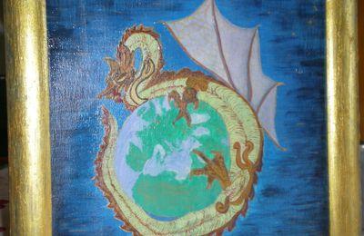 peinture- mandala dragon la finition