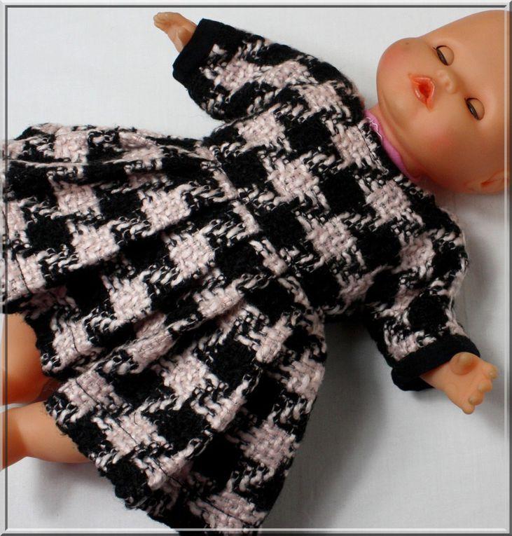 Robe et culotte pour poupée 30/34 cm