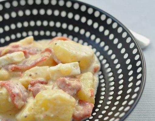 Salade de pommes de terre aux piquillos