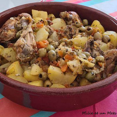 Tajine de poulet au citron & olives vertes