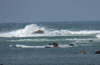 Entre deux giboulées de février, courte balade sur la côte nord