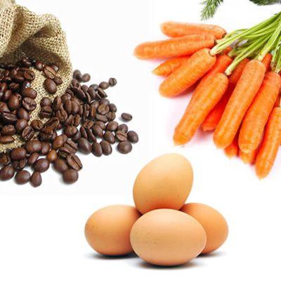 Zanahoria, Huevo o Café