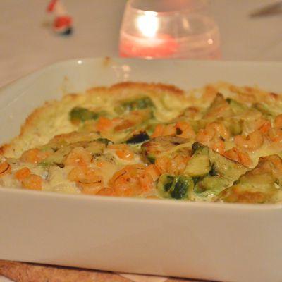 Filet de Cabillaud, Avocat et Crevettes