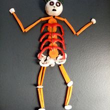 Squelette en légumes pour Halloween