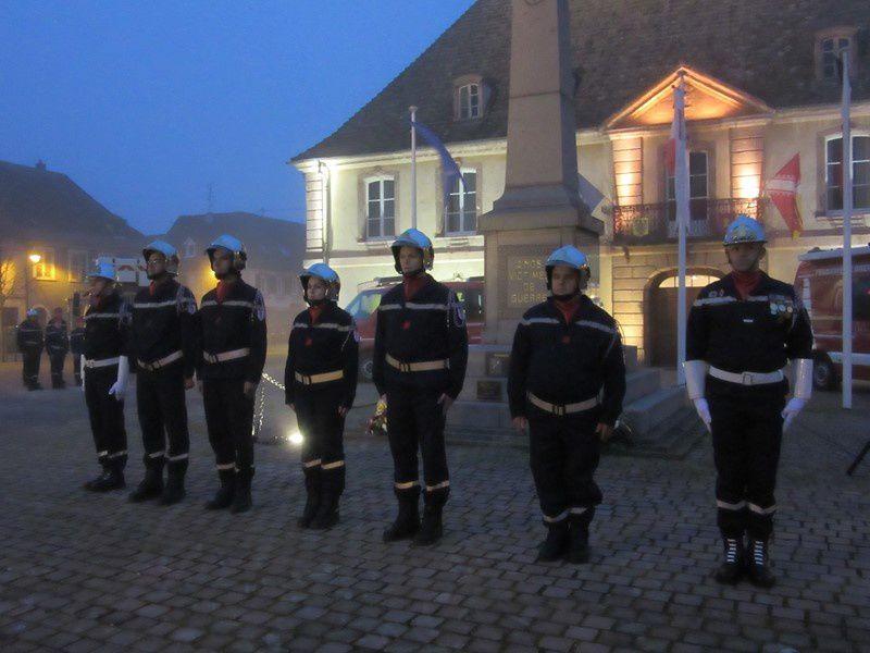 Sainte Barbe avec les Sapeurs-Pompiers de Neuf-Brisach