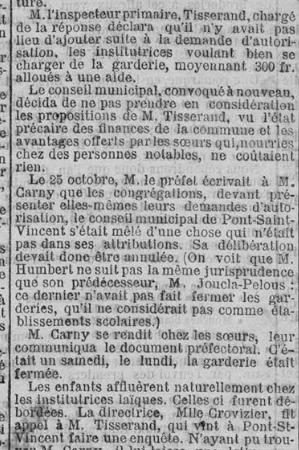 Rue des écoles -        Acte de décès de Sr Alphonse ZABEE - 1903 début de la garderie