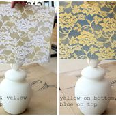 stayathomeartist.com: guest tutorial: spray painted lace lamp shade