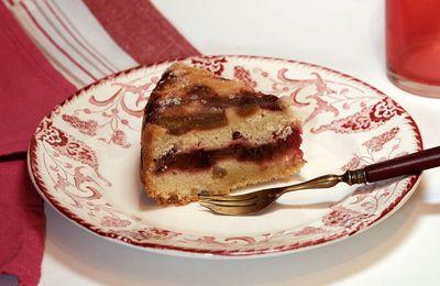 Gâteau moelleux à la rhubarbe (recette facile)