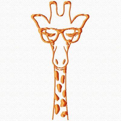 une girafe à lunette